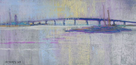 Photo: Silver River, pastel by Nancy Roberts, copyright 2014. Private collection.