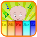 Piano music baby game icon