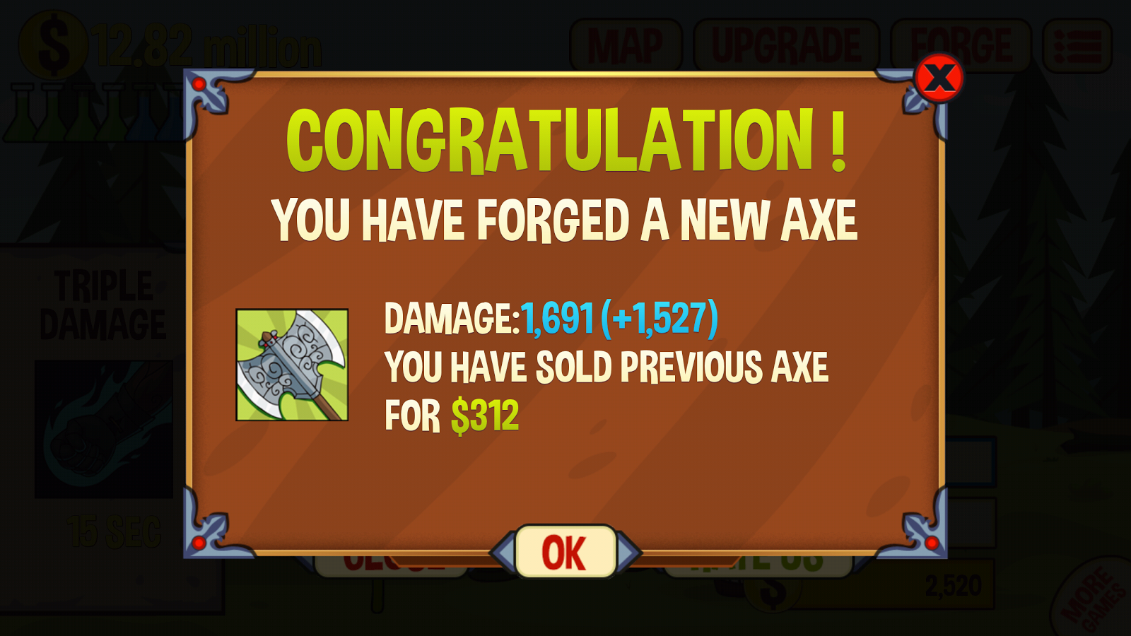 Axe Clicker- screenshot