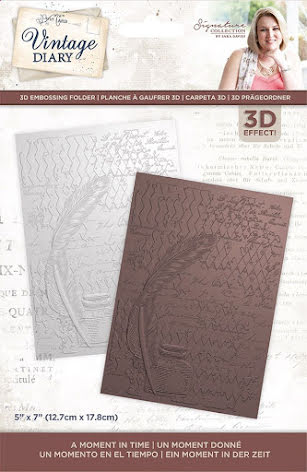 Sara Davies Vintage Diary 3D Embossing Folder - A Moment In Time