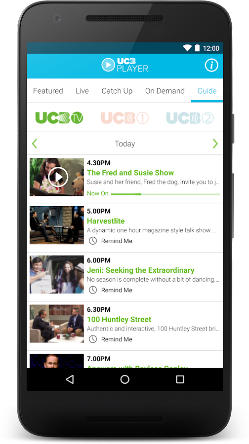 UCB Player- screenshot