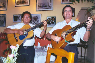 Photo: We were always serenaded by these musicians.