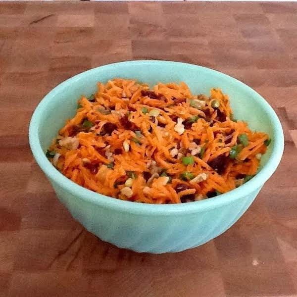 Carrot Slaw With Cranberries And Walnuts Recipe