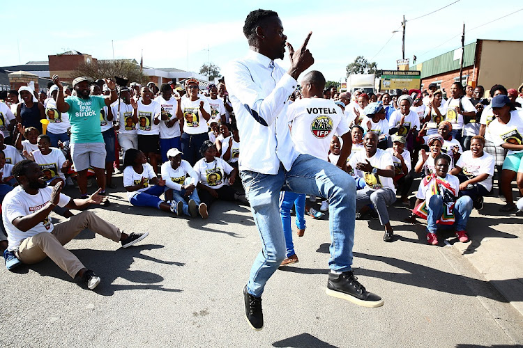 Jubilent IFP supporters. Picture: THE TIMES