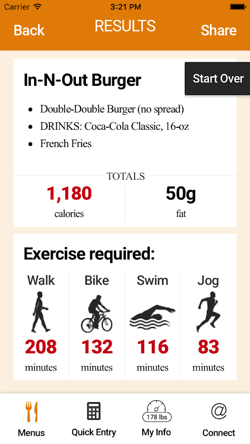 Exercise Calorie Converter- screenshot