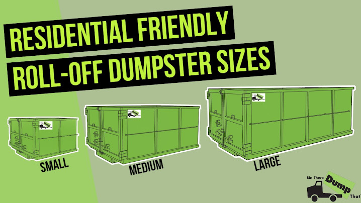 Roll Off Dumpster Sizes From Bin There Dump That - Small Dumpsters, Medium Dumpsters, Large Dumpsters