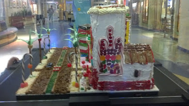 Photo: side view of Gingerbread Town