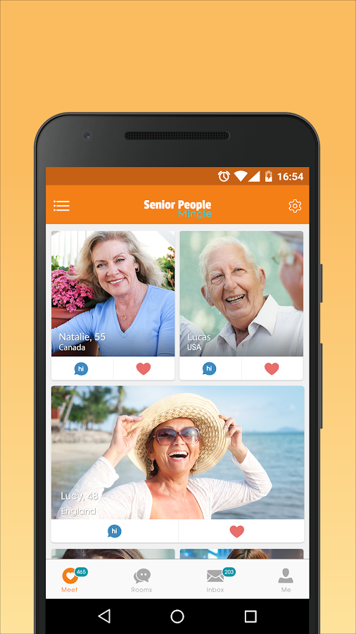 Senior people meet app