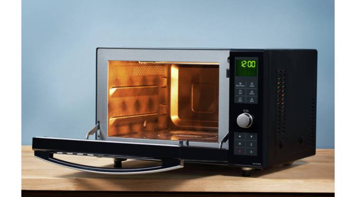 Flatbed microwave is ideal for people with limited space. Source: Panasonic