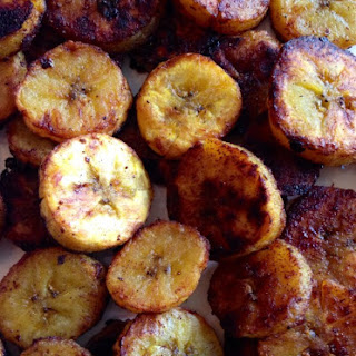 Sweet Caramel Cinnamon Baked Plantains.