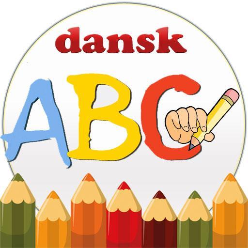 Børn lærer spil Alfabet Dansk