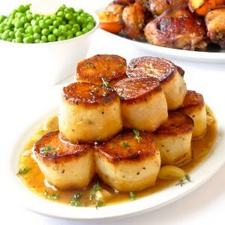 Garlic Thyme Fondant Potatoes.