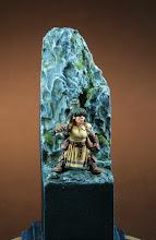 """Photo: """"Naine devant roche"""" (REAPER) 28mm  peinture: acrylique et huile"""