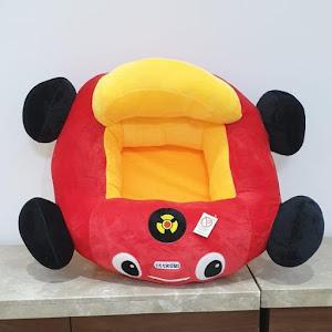 Fotoliu sezut bebelusi, masinuta din plus cu spatar