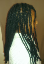Photo: side view of Kaleya's yarn braids