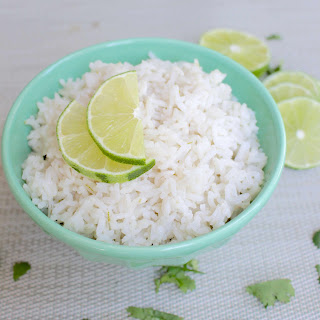 Easy Lime-Coconut Rice.