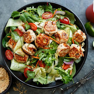 Thai Chicken Meatball Salad