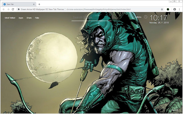 Green Arrow Hd Wallpaper Dc New Tab Themes