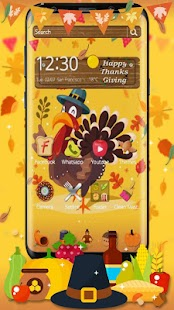 Thanksgiving Turkey 3D Theme - náhled