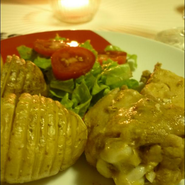 Chicken with Black Beer and Hasselback Potatoes Recipe