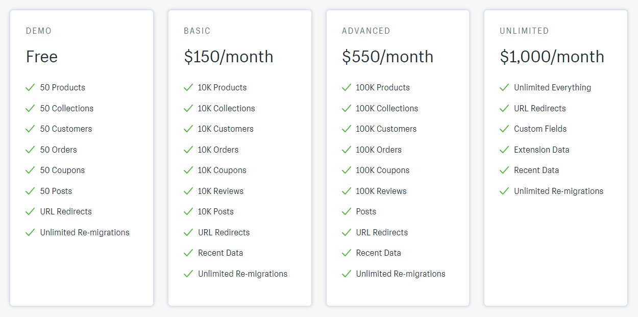 next-cart prices to migrate store