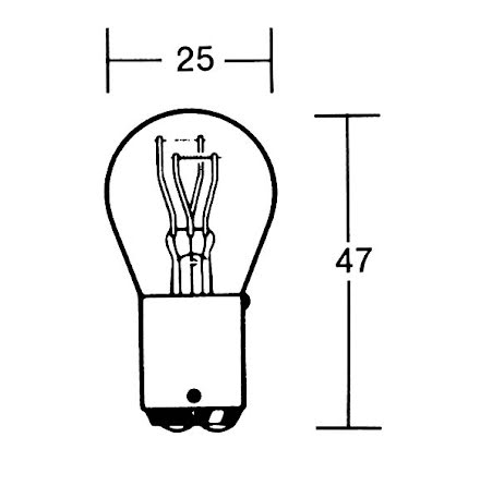 P21/5W incandescent lamp 12V 21/5W BAY15D