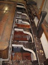 Photo: Les passavants sont aussi déposés, il y aura un peu de ménage à faire dans la cambuse !