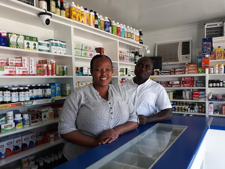 Phumza Matwele in her Khayelitsha pharmacy