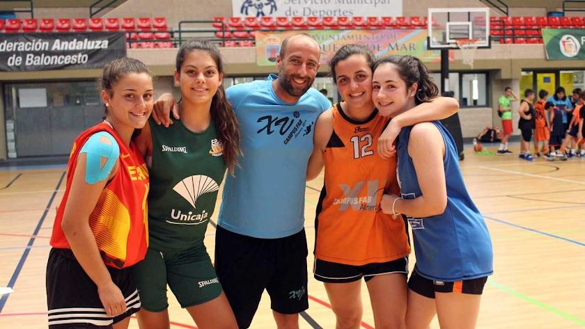Jugadoras de Málaga en el Campus.