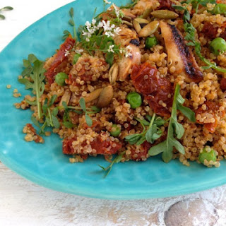 Healthy Quinoa Salad & Sun Dried Tomato Pesto