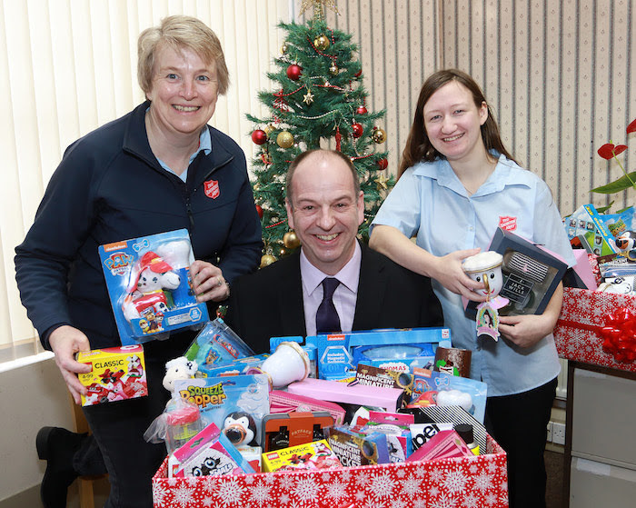 Company donates presents to town Christmas appeal