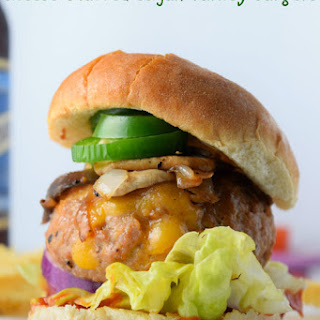 Cheese Stuffed Cajun Turkey Burgers.