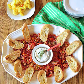 Rosemary Tomato & Goat Cheese Bruschetta.