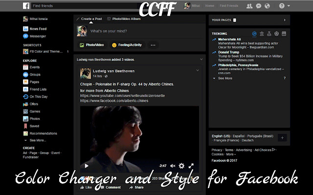 CCFF - Color Changer and Style for Facebook