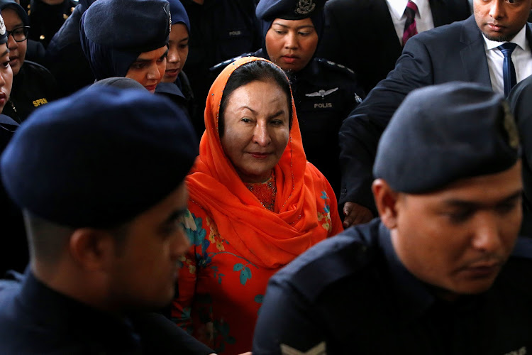 Rosmah Mansor, wife of former Malaysian prime minister Najib Razak, arrives in court in Kuala Lumpur on October 4 2018. Picture: REUTERS/LAI SENG SIN