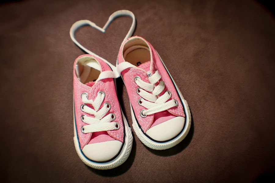 Too Cute by Molly Childress - Artistic Objects Clothing & Accessories ( heart pink converse,  )