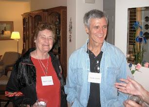Photo: ROMAINE ROMNEY AND PROFESSOR CHARLIE CHUBB