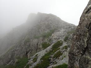 スバリ岳への登り