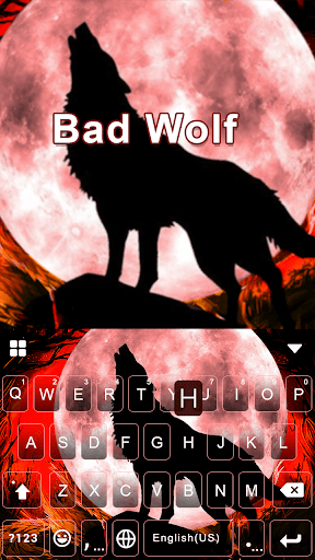 Bad Wolf Emoji Keyboard Theme