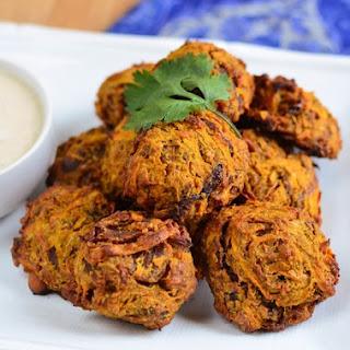 Oven Baked Onion Bhaji