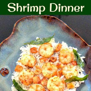 Garlic Butter Shrimp Dinner.