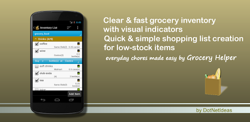Clear & fast inventory with visual indicators. Quick shopping list creation.