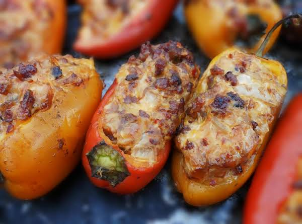 Spicy Brat Stuffed Peppers
