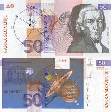 Photo: Jurij Vega, 50 Slovenian Tolars (1992). This note is still legal currency and is still in print (?).