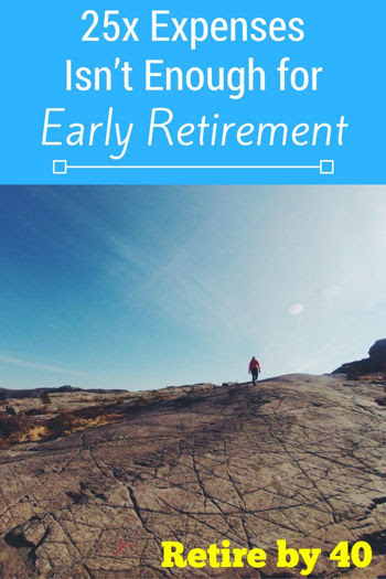 25x Expenses Isn't Enough for Early Retirement