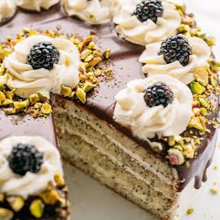 Poppy Seed Cake with Chocolate Ganache.