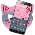 Pink Blue Cute Cat Theme APK