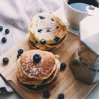 Blueberry Ricotta Pancakes.