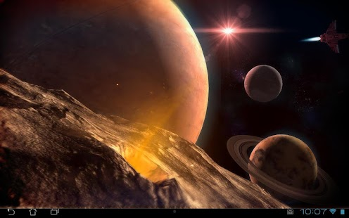 Planetscape 3D Live Wallpaper Screenshot