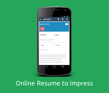 Jobsenz - Resume Builder- screenshot thumbnail